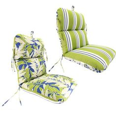 Reversible Deluxe Outdoor Chair Cushion, Multiple Colors