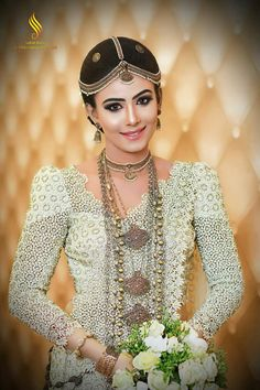Dressed by Indumala Rajapakse Wedding Sari, Bridal Wedding Dresses, Wedding Dress Styles, Wedding Attire, Wedding Bride, Kerala Bride, South Indian Bride, Indian Bridal, Wedding Ideas Sri Lanka