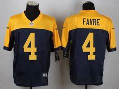Men s Green Bay Packers  4 Brett Favre Navy Blue-Gold Retired Player NFL  Nike dd81540b7