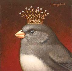 'Royal Junco' by artist Steven Kenny <> (art, illustrations, birds) Art Fantaisiste, Little Birds, Pics Art, Whimsical Art, Bird Feathers, Beautiful Birds, Pet Portraits, Pet Birds, Folk Art