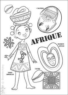Afrique COLORE LE MONDE : ET DE 43 ! - Severine Aubry * I L L U S T R A T R I C E *** B O O K ***