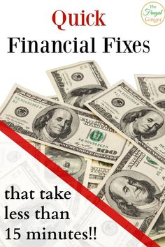 These financial fixes will take you less than 15 minutes to do but will save you so much time and money in the long run.