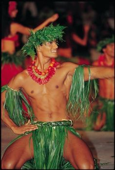 Traditional Tahitian Male dancer