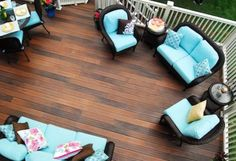 Synthetic decking manufacturers are touting their green credentials in products like CertainTeed's EverNew