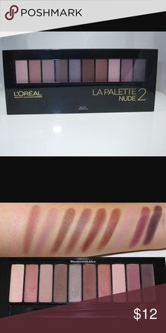 L'oreal La Palette Nude 2 Swatched only L'Oreal Makeup Eyeshadow