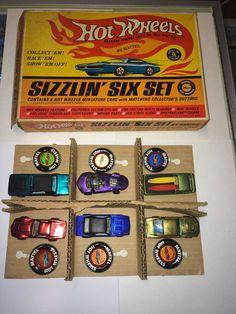 HOTWHEELS VINTAGE REDLINES SIZZLIN' SIX SET BOXED RARE DEORA # 6241 SIZZLIN HTF #HotWheels #Mercury
