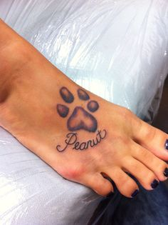 My Dog's paw print....enhanced a little. Came out great so happy!