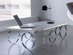 Mesa de Centro Negril   Material: Acero Inox.   Mueble realizado en MDF y ... Eur:676 / $899.08