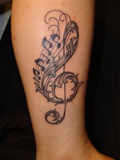 images music tattoos for women. Tattoos of Music Notes amp; wallpaper Tattoos of Music Notes amp; music tattoos for women. Girly Tattoos, Music Tattoos, Unique Tattoos, Leg Tattoos, Beautiful Tattoos, Body Art Tattoos, Tatoos, Tattoo Ink, Female Tattoos
