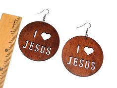 Wooden Jesus Earrings Wooden Earrings, Fashion Earrings, Piercing, Drop Earrings, Jewelry, Design, Wood Earrings, Piercings, Jewels