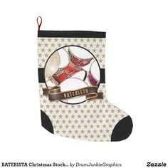 BATERISTA Christmas Stocking Drummer Christmas