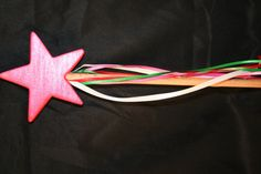 """Great for your little princess, or as a birthday gift bag.  A star shaped """"Fairy"""" Wand"""