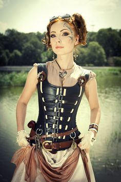 steampunktendencies:  Photography/Edition: Irina Braga  Outfit: radoobutuc Model: Red Hair
