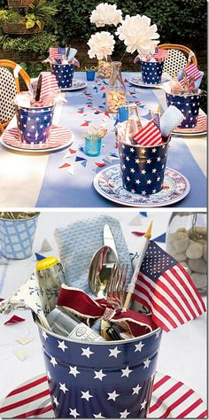 cute table Ideas    http://www.southernliving.com/m/food/entertaining/american-party-patriotic-table-setting-decorations-00417000067992/