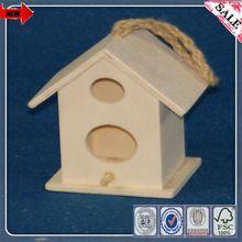 Barato de madeira Diy casa em miniatura