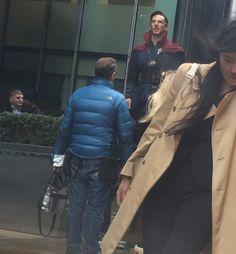 Benedict Cumberbatch as Doctor Strange - Set picture in Londo