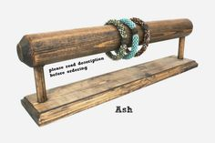 Wood Jewelry Display, Bracelet Display, Bracelet Stand, Bracelet Holder, Jewelry Organizer, Choose the Color
