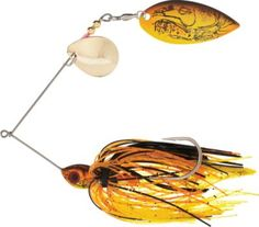 """""""This spinnerbait looks like natural food, catching bass regularly."""" -customer review of the Booyah® Hot Wire Real Craw Spinnerbait"""
