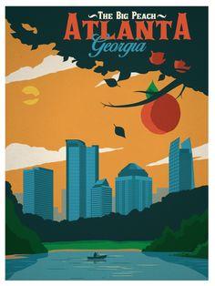 Image of Vintage Atlanta Poster