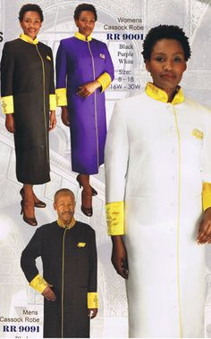 Choir Robes Group Suits Church Gowns Pastors Robe by Yesufashions, $99.99