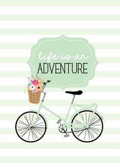 Bicycle Wallpaper, Calendar Wallpaper, Some Quotes, Life Is An Adventure, Cute Wallpapers, Baby Strollers, Bicycles, Children, Typo