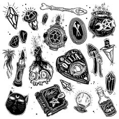 ☽ Witchy Stickers ☾ on Behance