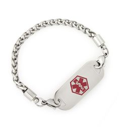 Cable Link Medical ID Bracelet. Simple and still prettier than mine.