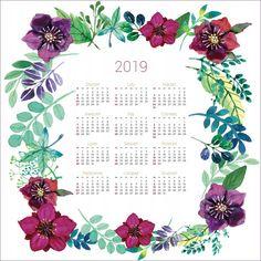 Kalendarz 2019 PREZENT Mandala Kwiaty 90x90 cm 7701899085 - Allegro.pl Life Is Strange, Calendar, Bullet Journal, Life Planner