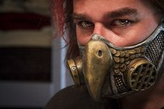 Steampunk Owl Gas Mask Respirator, via Etsy.
