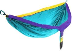 This neon blue hammock for two. | 42 Insanely Clever Products You Need For Your Next Camping Trip