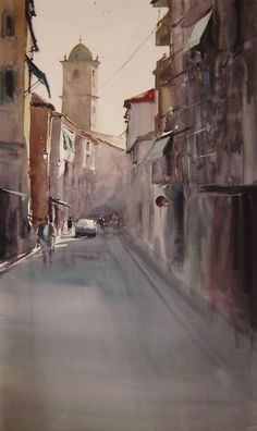 Watercolor Artists, Watercolor Paintings, Cities, But Is It Art, Urban Sketchers, Andalucia, Landscape Paintings, In This Moment, Water Colors