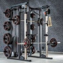 Pull Up Station, Pull Up Bar, Home Multi Gym, Dream Home Gym, Half Rack, Dip Bar, Lat Pulldown, Smith Machine, Weight Set