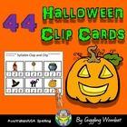 Halloween Clip Cards by Giggling Wombat | Teachers Pay Teachers