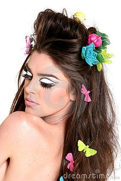 High Fashion Makeup Photography | Woman With High Fashion Makeup And Hairstyle Royalty Free Stock Photo ...
