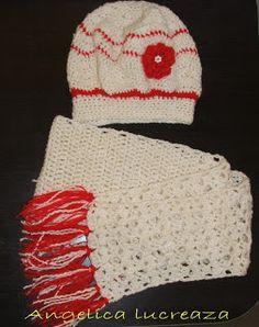 Angelica lucreaza: Caciula - basca si fular crosetate Crochet Clothes, Crochet Hats, Winter Hats, Fashion, Knitting Hats, Moda, Fashion Styles, Fasion