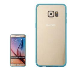 [$0.99] Rainbow Series Acrylic and TPU Material Hard Case for Samsung Galaxy S6 Edge+ / G928(Blue)