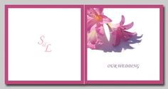 Flower Wedding Invitations and matching wedding stationery. View entire range online http://www.idovedesign.com.au/f1-flower-wedding-card-invitation.html