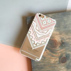 Clear TPU Case Cover - Pastel Aztec Triangle – Milkyway