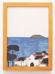 Raquel Martin Illustration Menorca Print (DIN A4)