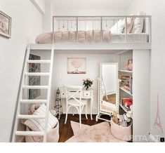 ^^Learn about murphy bed. Follow the link to read more** Viewing the website is worth your time. Kids Room Design, Bed Design, Shabby Chic Stil, Shabby Chic Decor, Shabby Chic Furniture, Painted Furniture, Shabby Chic Interiors, Bedroom Loft, Bedroom Decor