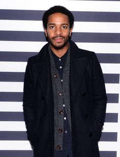Pin for Later: 20 Photos That Prove Andre Holland Looks Hot in Any Historical Era Even when dressed in casual wear. Andre Holland, Casual Wear, Casual Dresses, Celebs, Celebrities, Hollywood Stars, Photo Galleries, Raincoat, Actors