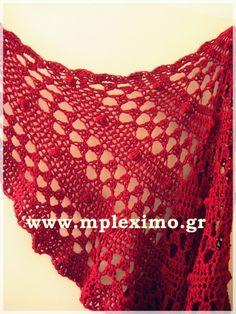 crochet red half moo