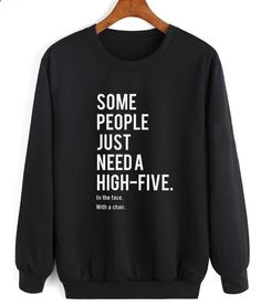 long sweaters for women long sweaters for women Women Sweater # Women Sweater Some People Need a High Five Sweater Women Warm Knitted Sweater Turtleneck Top Slim Fit Long Sleeve Sweater Sarcastic Shirts, Funny Shirt Sayings, Shirts With Sayings, Funny Quotes, T Shirt Quotes, Funny Shirts Women, Funny Sweaters, Funny Sweatshirts, Cardigan Sweaters