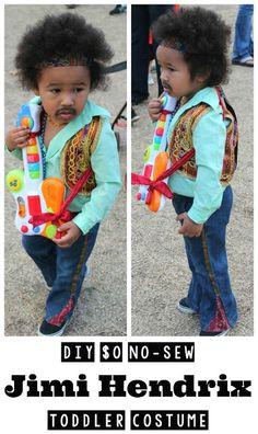Quirky Bohemian Mama - A Bohemian Mom Blog: DIY $0 no-sew Jimi Hendrix Toddler Costume {Toddler Halloween Costume}
