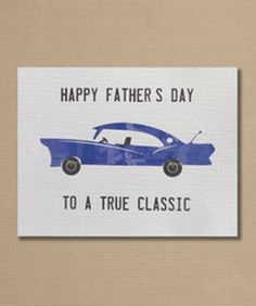 Father's Day Greeting Card Classic Car by MeghanLynCreative Great Father, Happy Father, Father's Day Greeting Cards, Time To Celebrate, Cool Gifts, Fathers Day, Classic Cars, Paper Crafts, Uber