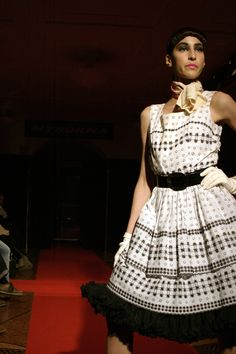 Catwalk How to spend it by Myrorna. Stylist Rebecka Cohen. SEB bank vault 2004.