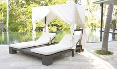 52 Designer Patio Ideas   Don't forget a comfortable daybed or hammock for those lazy day naps!