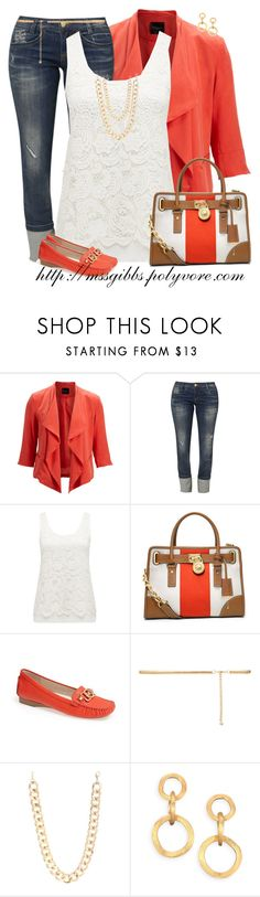"""""""Leather, Lace & Loafers"""" by mssgibbs ❤ liked on Polyvore featuring SELECTED, Killah, Forever New, MICHAEL Michael Kors, Jane Norman and Marco Bicego"""