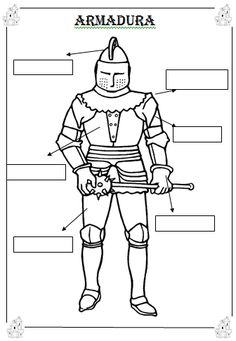 coloring page Knights on Kids-n-Fun. Coloring pages of Knights on Kids-n-Fun. More than coloring pages. At Kids-n-Fun you will always find the nicest coloring pages first! Castillo Feudal, Coloring Sheets, Coloring Pages, Chateau Moyen Age, Summer School Activities, Château Fort, Medieval Knight, Montessori Activities, Medieval Times
