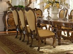 Dining Room Tables For 12 | 7pc Lady Anne Grand Exquisite 12 Ft Dining Room Set